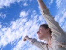 Kobieta i niebo