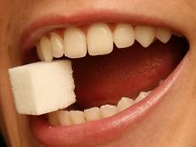 Cukier w ustach
