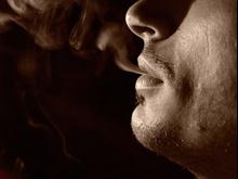 Dym wydobywający się z ust
