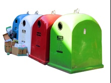 Kosze kolorowe recycling