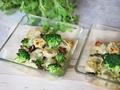 Przepis na uszka z mięsem zapiekane z brokułami pod serową pierzynką