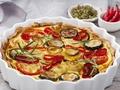 Przepis na wytrawną tartę z warzywami z aromatyczną pastą dyniową z marchewką i imbirem