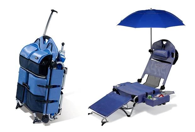 Kompaktowy zestaw plażowy